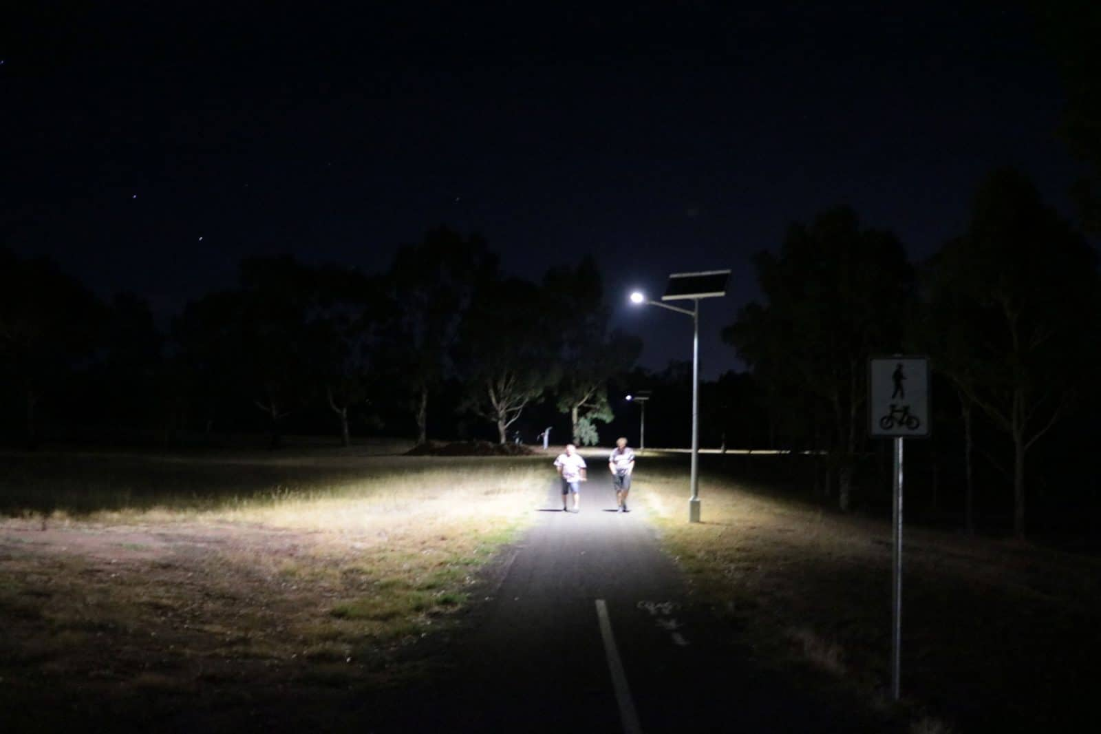 solar street lighting at Hewett South Australia