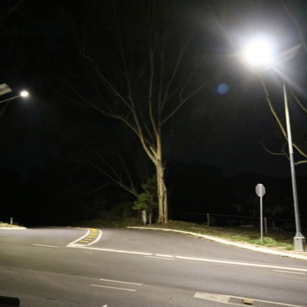 GFS-400 solar street lighting intersection project Victor Harbour SA