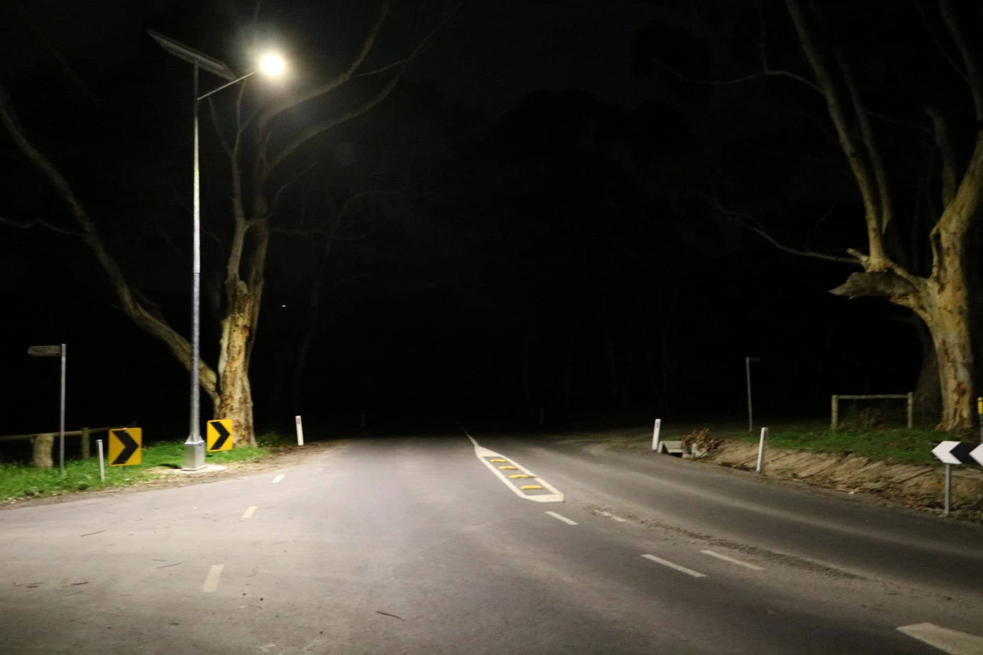 solar street lighting intersection project Victor Harbour SA
