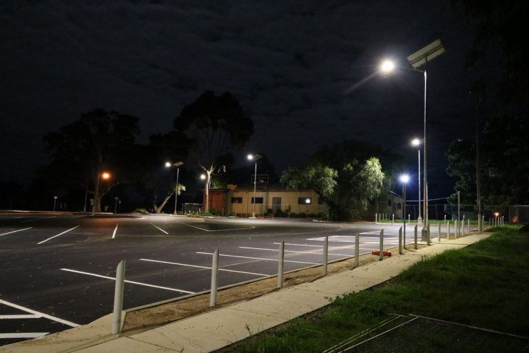 solar car park lighting Wagga Wagga NSW