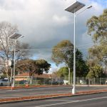 solar powered car park lighting GFS-400 solar street light