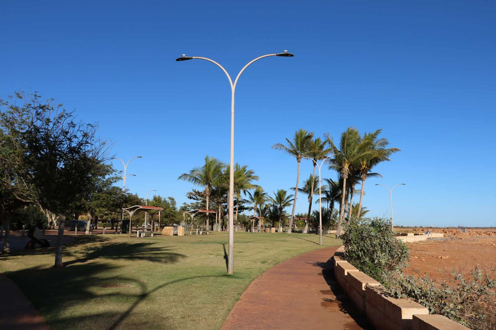 Smart street lighting at Port Hedland