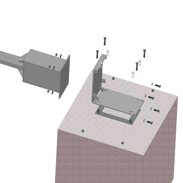 hinged base plate pole adapter