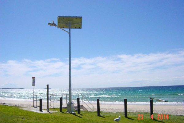 solar street lighting coastal install tweed heads