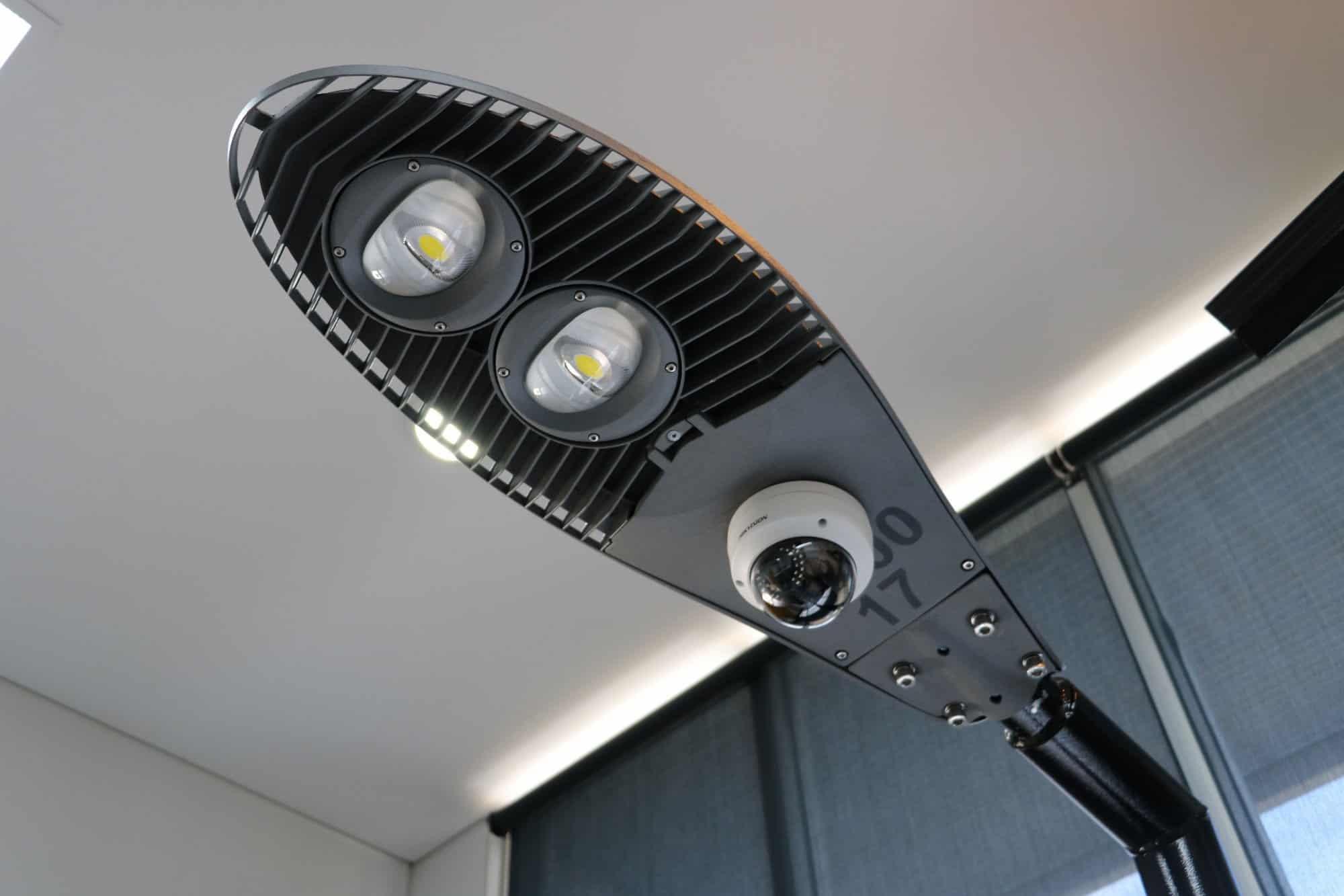 stret light mounted CCTV security camera
