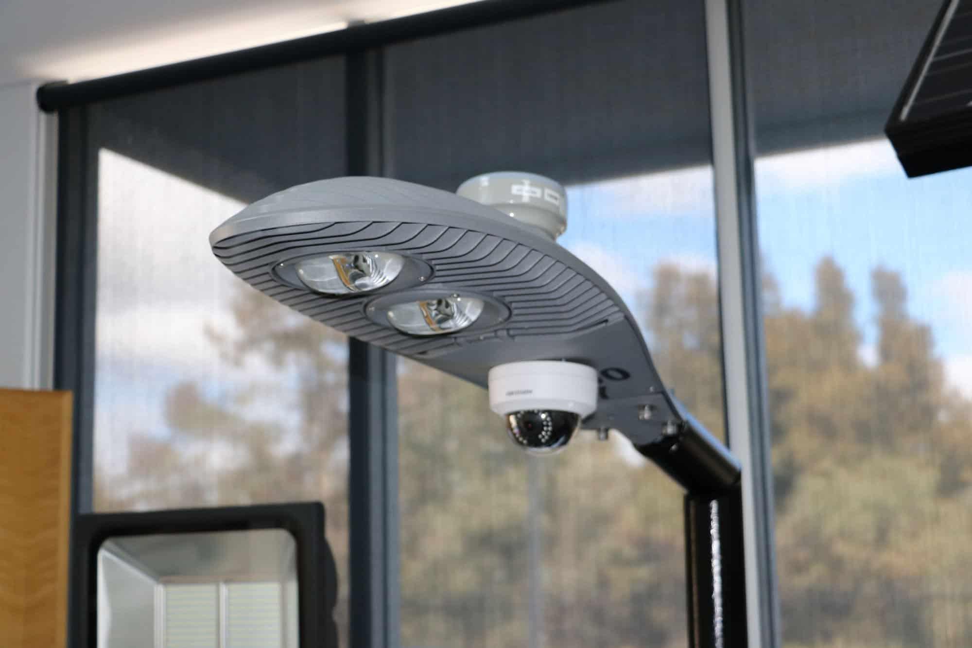 CCTV security camera on Sentinel 100w
