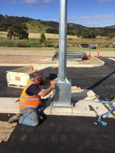 solar street light footing installation