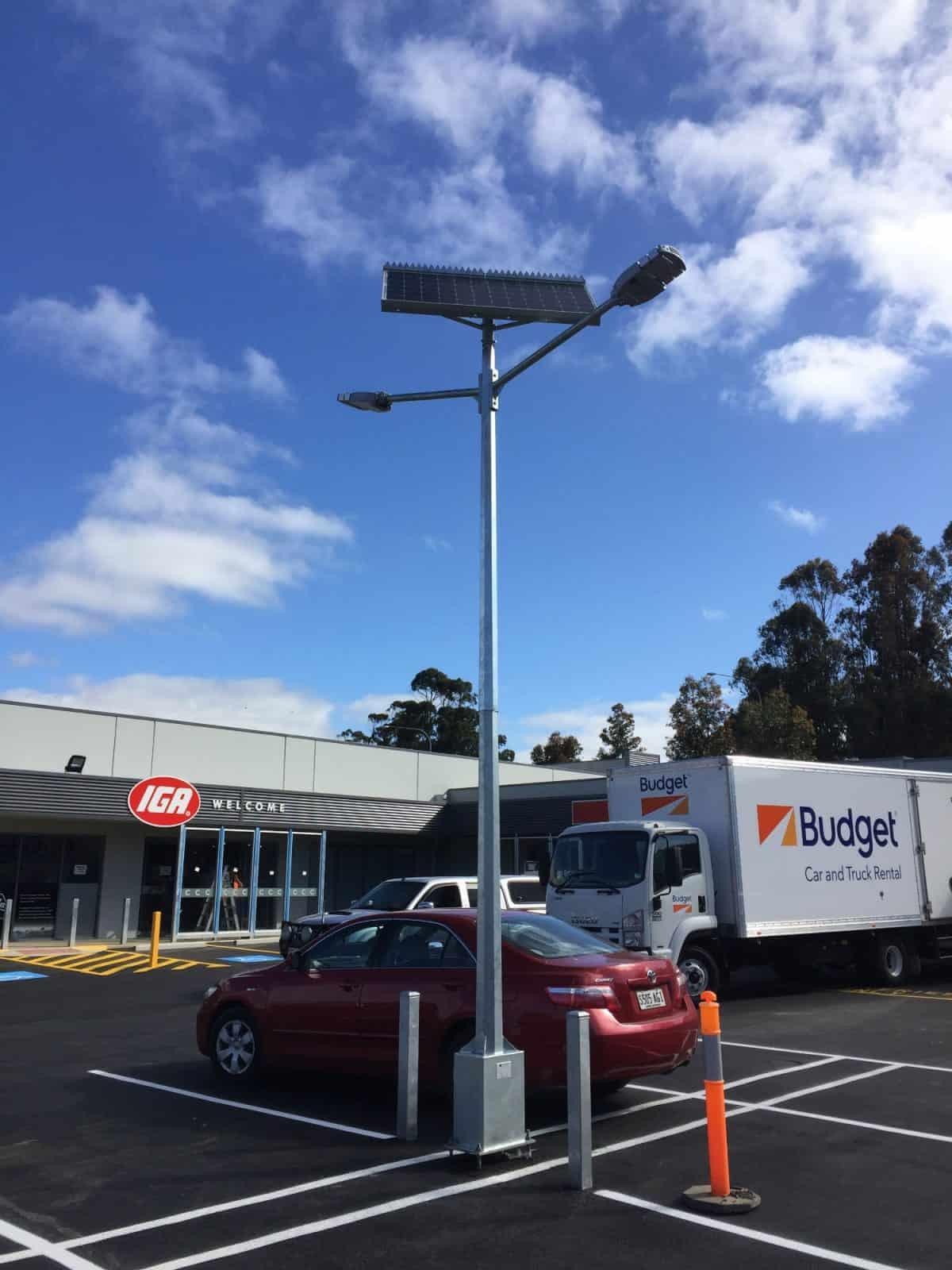 Twin Head Solar Street Light