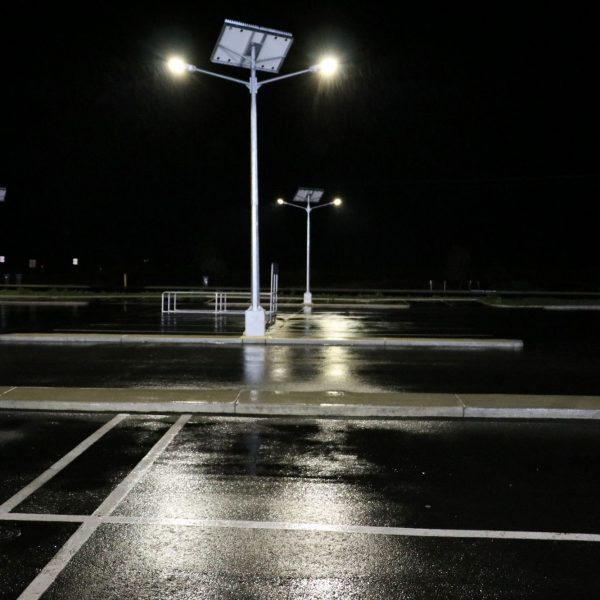 solar street lighting twin head mount compass IGA