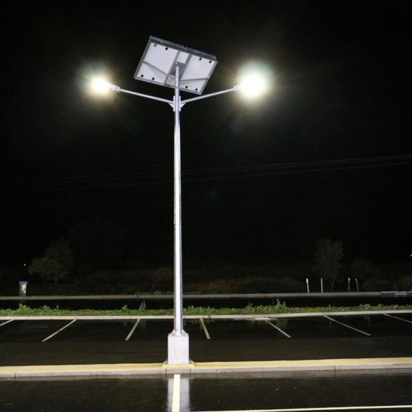 solar street light twin head mount compass IGA