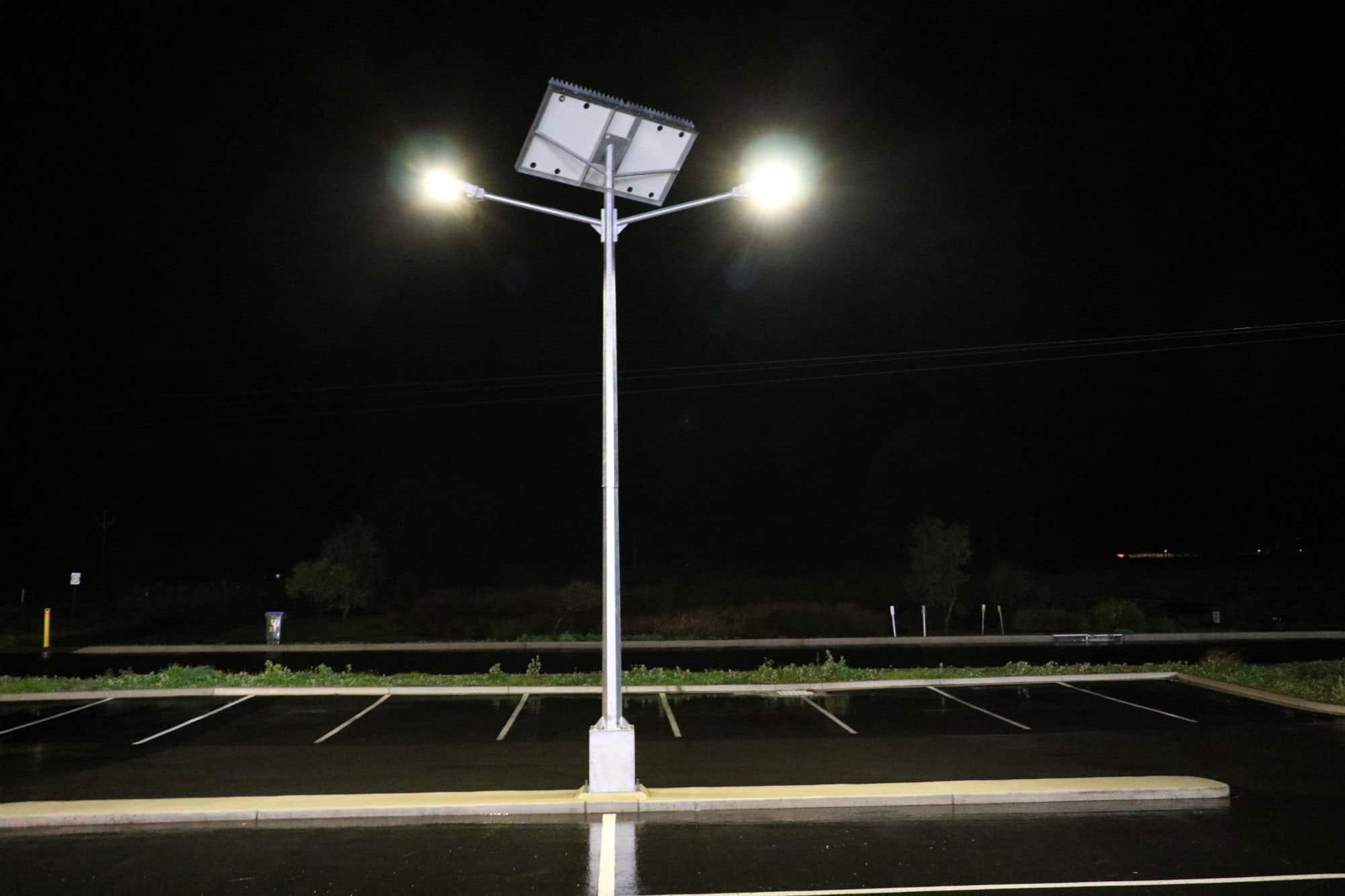 solar street light twin head mount compass IGA