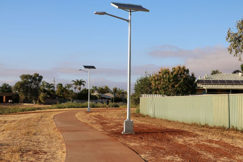 Solar lights in Karratha WA