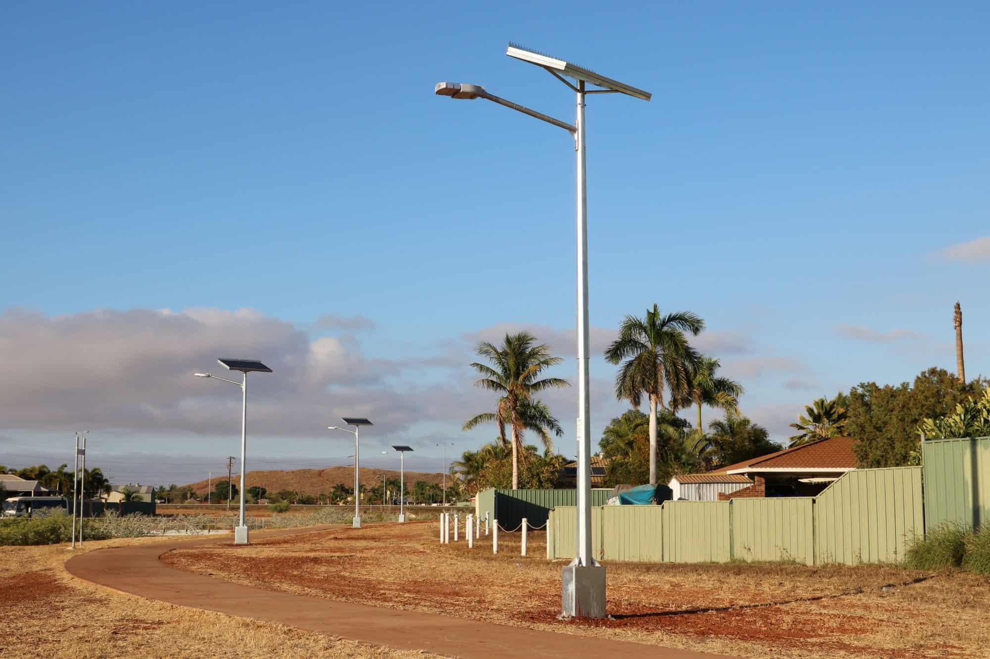solar powered street lights in Karratha Wa