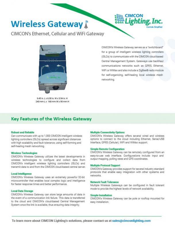 Wireless Gateway Brochure