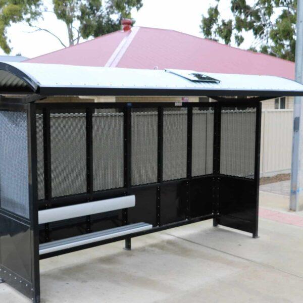 solar shelter light bus stop