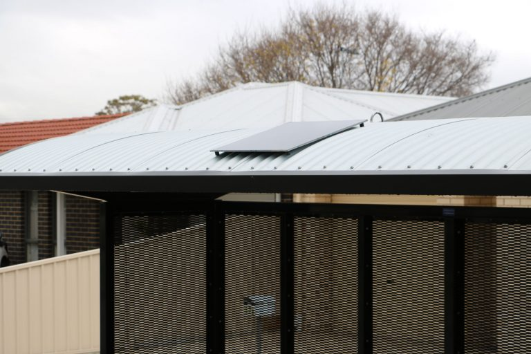 solar bus shelter curved roof solar panel