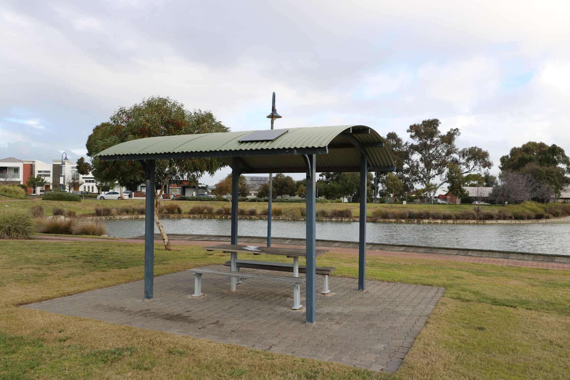 BBQ shelter solar powered light
