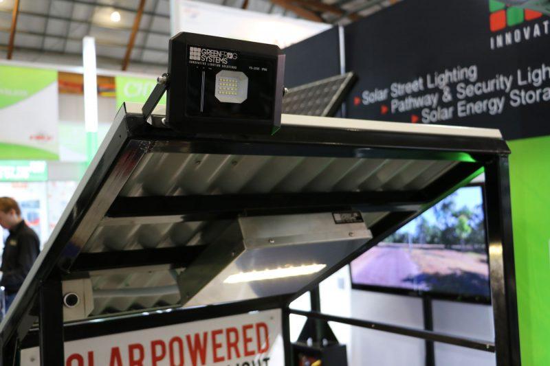 solar powered modular flood light option