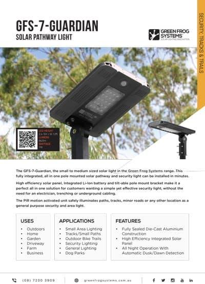 GFS-GUARDIAN-7 solar security light