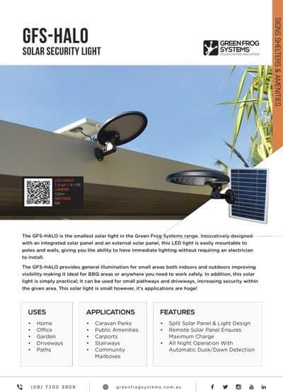 GFS-HALO solar security light