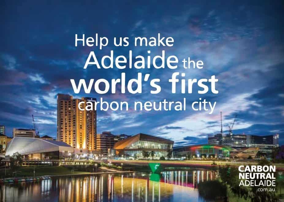 carbon neutral Adelaide postcard