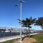ASPIRE solar light installation with SAM central control