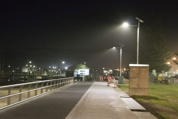 solar street lights with smart control systems at lakes entrance VIC