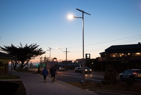 smart solar path lights at Lakes Entrance