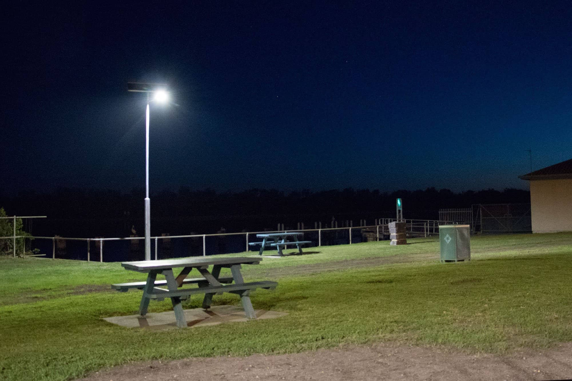 smart solar lighting at Lakes Entrance