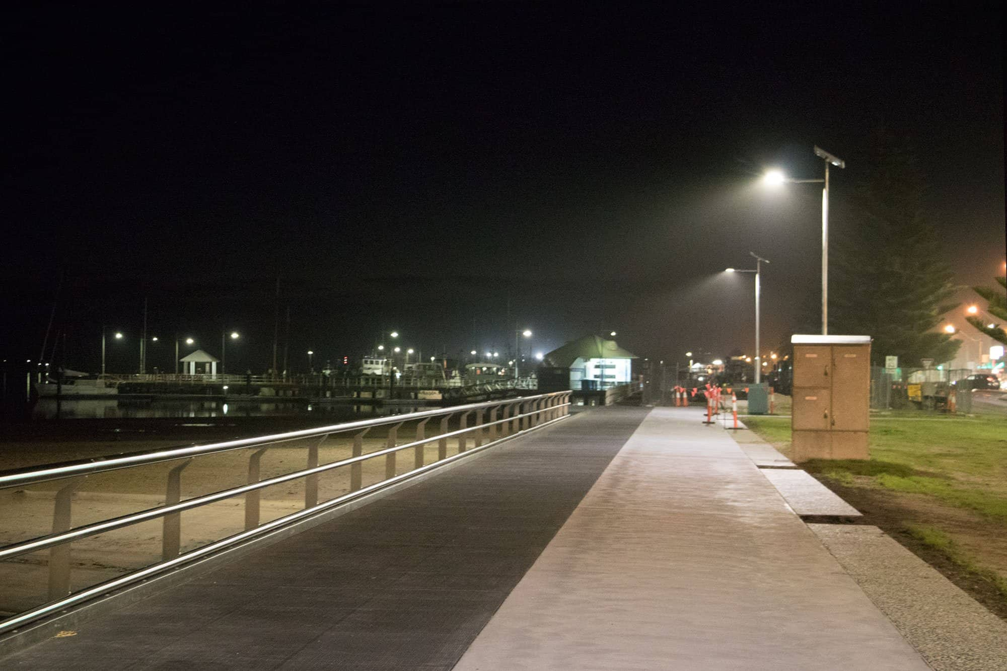 smart solar pathway lights at Lakes Entrance In Victoria