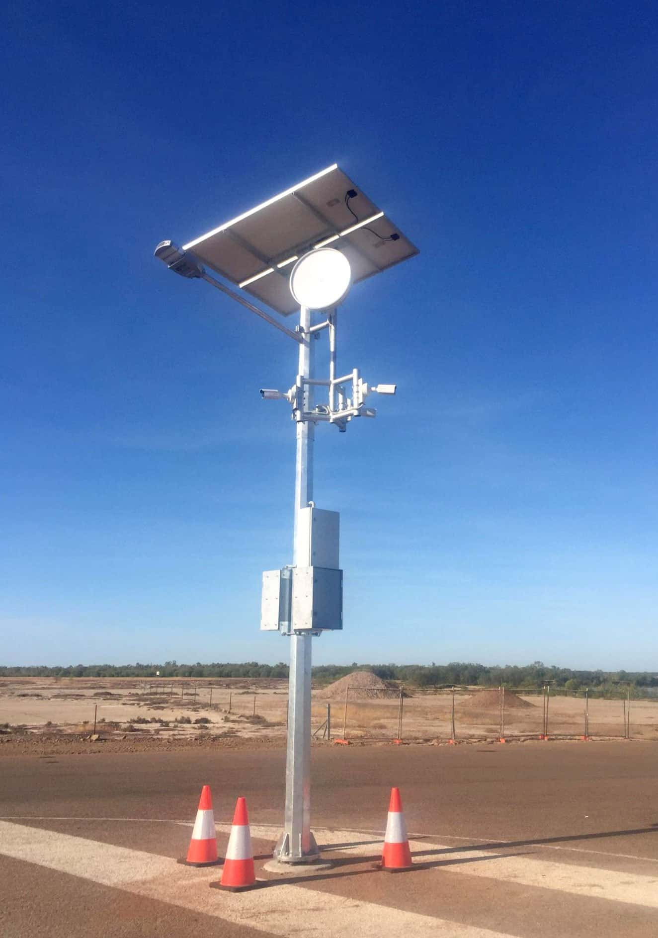 solar cctv and energy storage at burkshire shire boat ramp