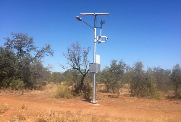 solar cctv and lighting tower at Burkshire Shire in Queensland