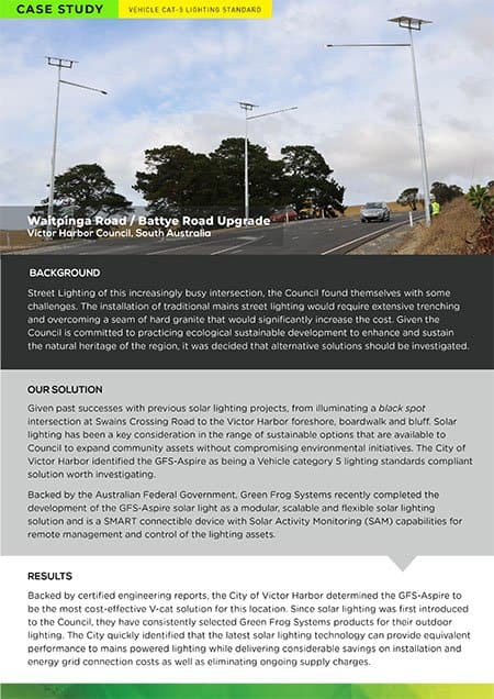 waitpinga & battye road solar roadway lighting case study