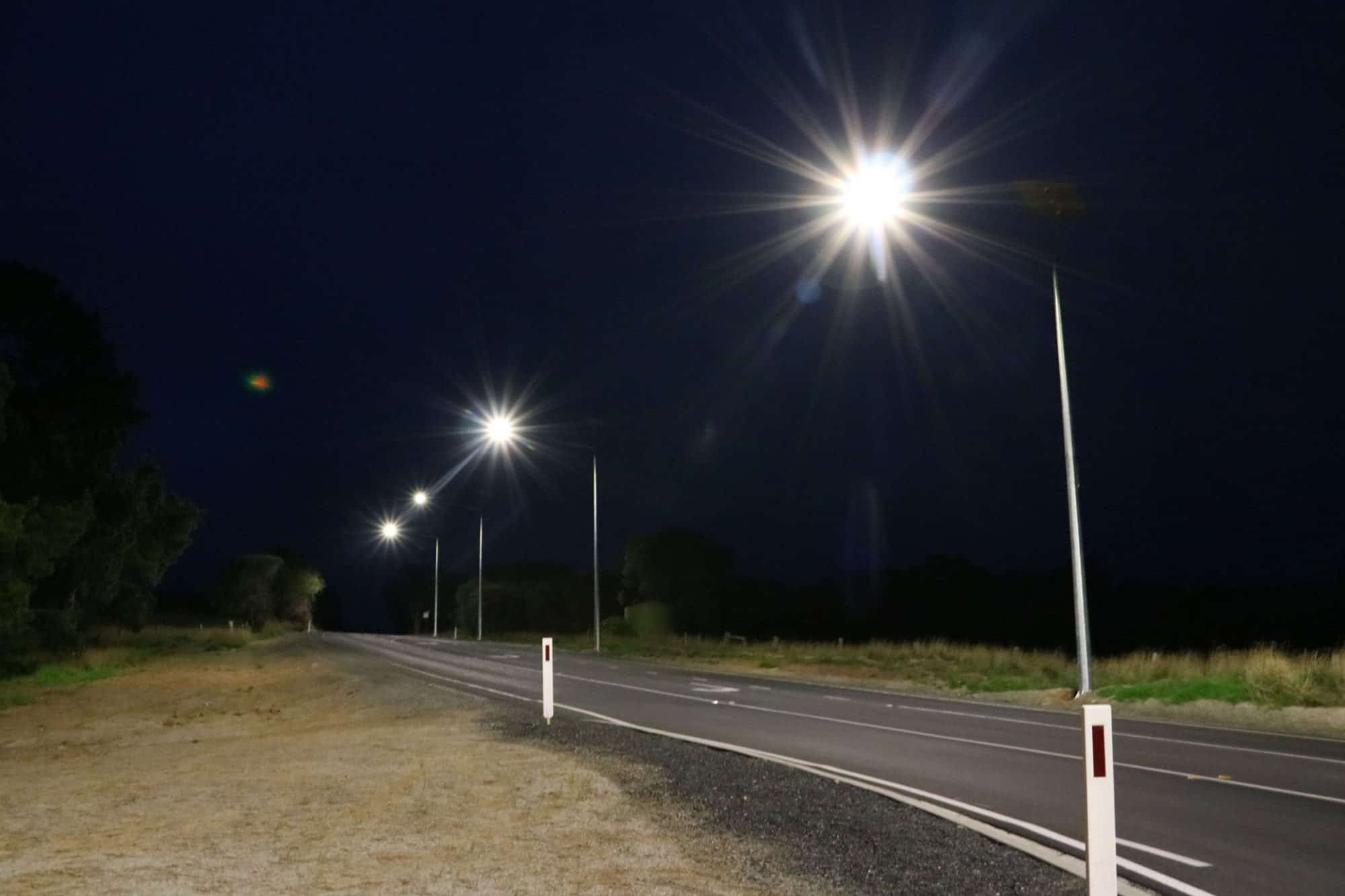 solar roadway v-cat lighting project at Victor Harbor