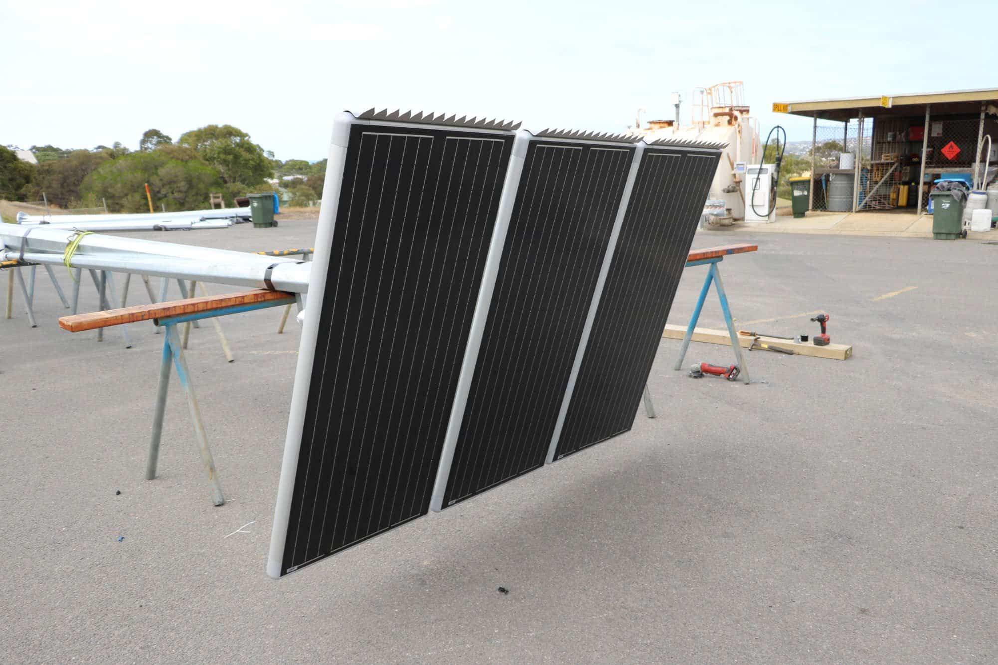 triple modular solar panel