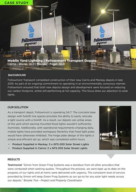 case study followmont transport depot