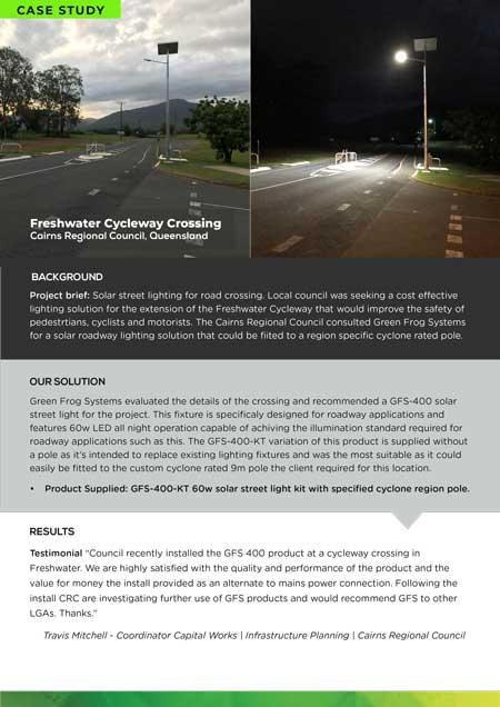 Freshwater cycleway case study