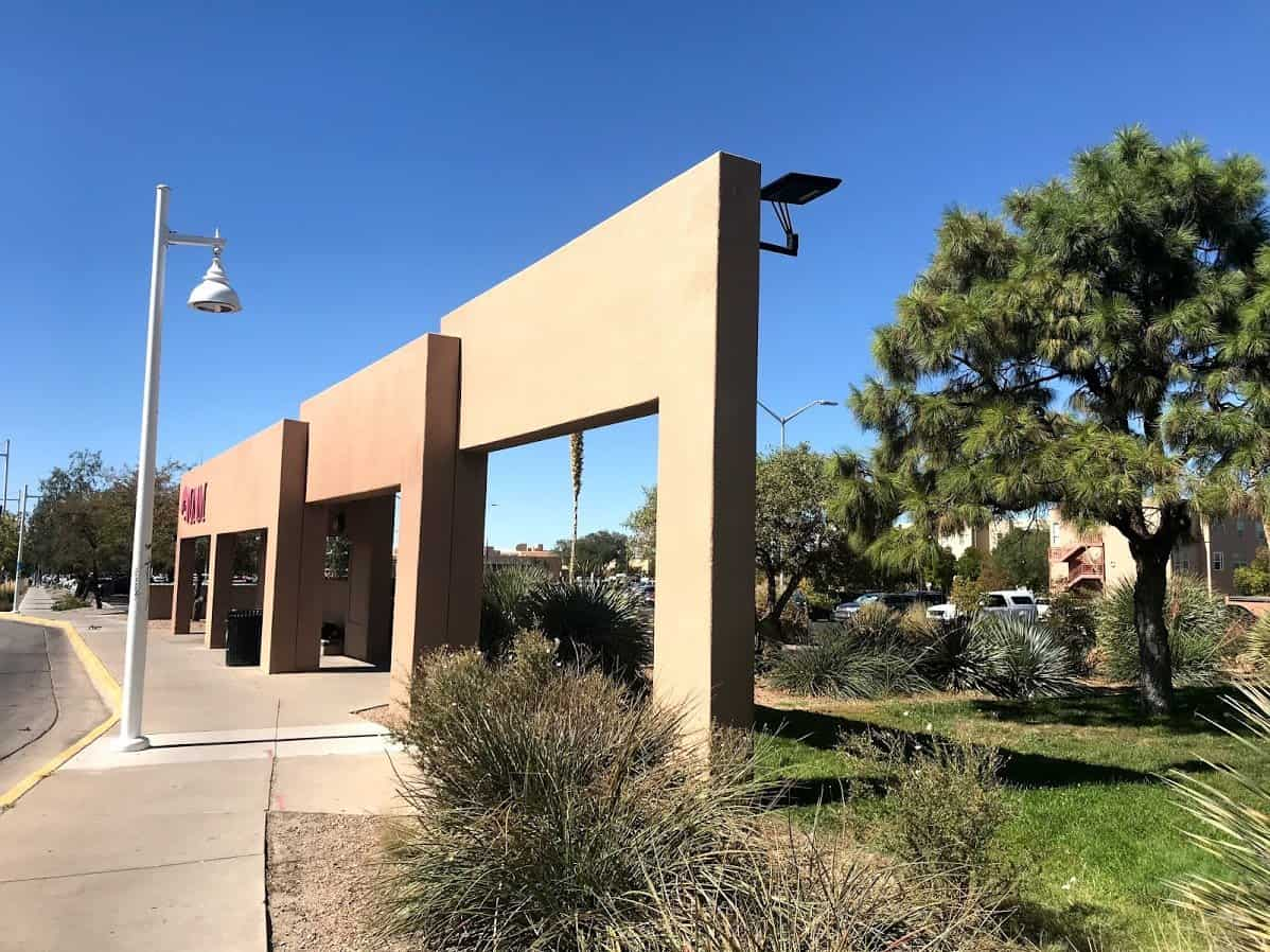STEALTH solar light at University New Mexico bus stop