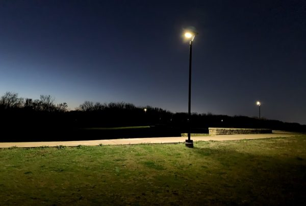 solar bike trail lighting texas