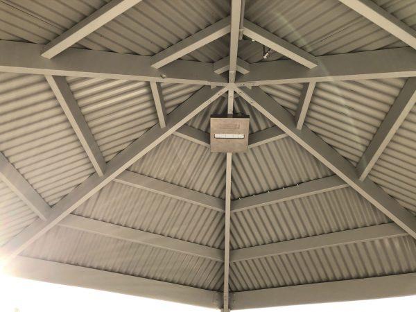 solar shelter lighting at Leopold War Memorial