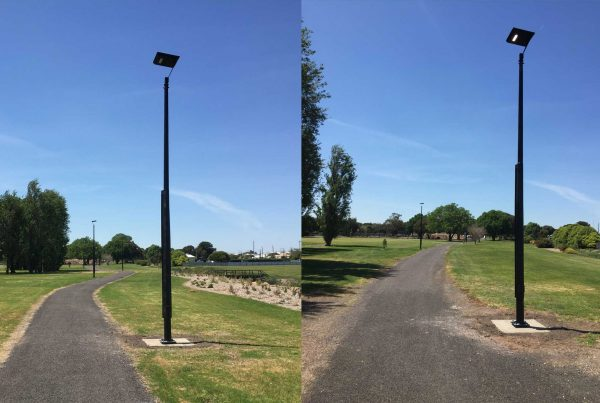 solar walkway lighting at wattle range pathway