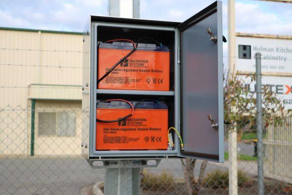 pole mounted battery storage box