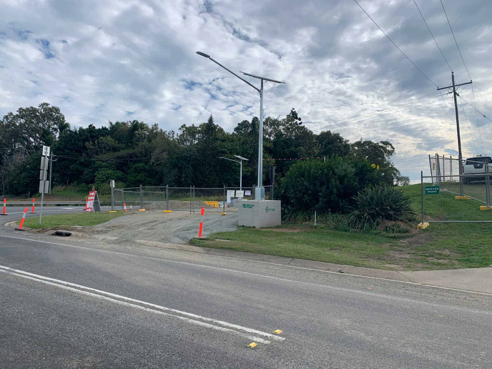 Bruce Highway temporary roadway lighting