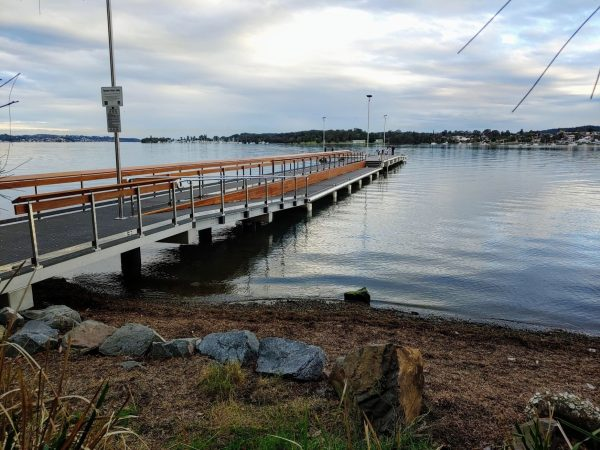STEALTH solar lights on a jetty