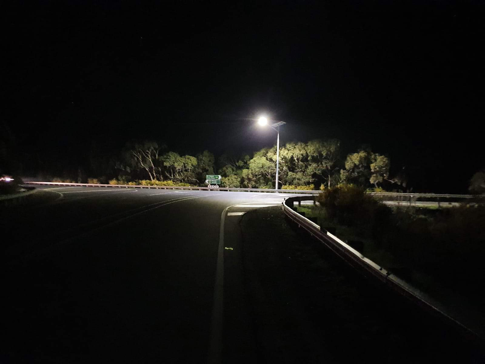 solar roadway lighting project at pages flat road