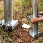 Hinged Base Pole Installation