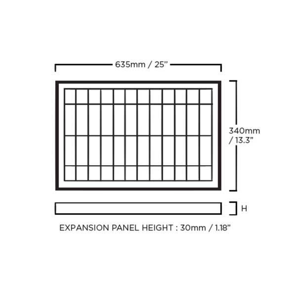 expansion panel dimensions
