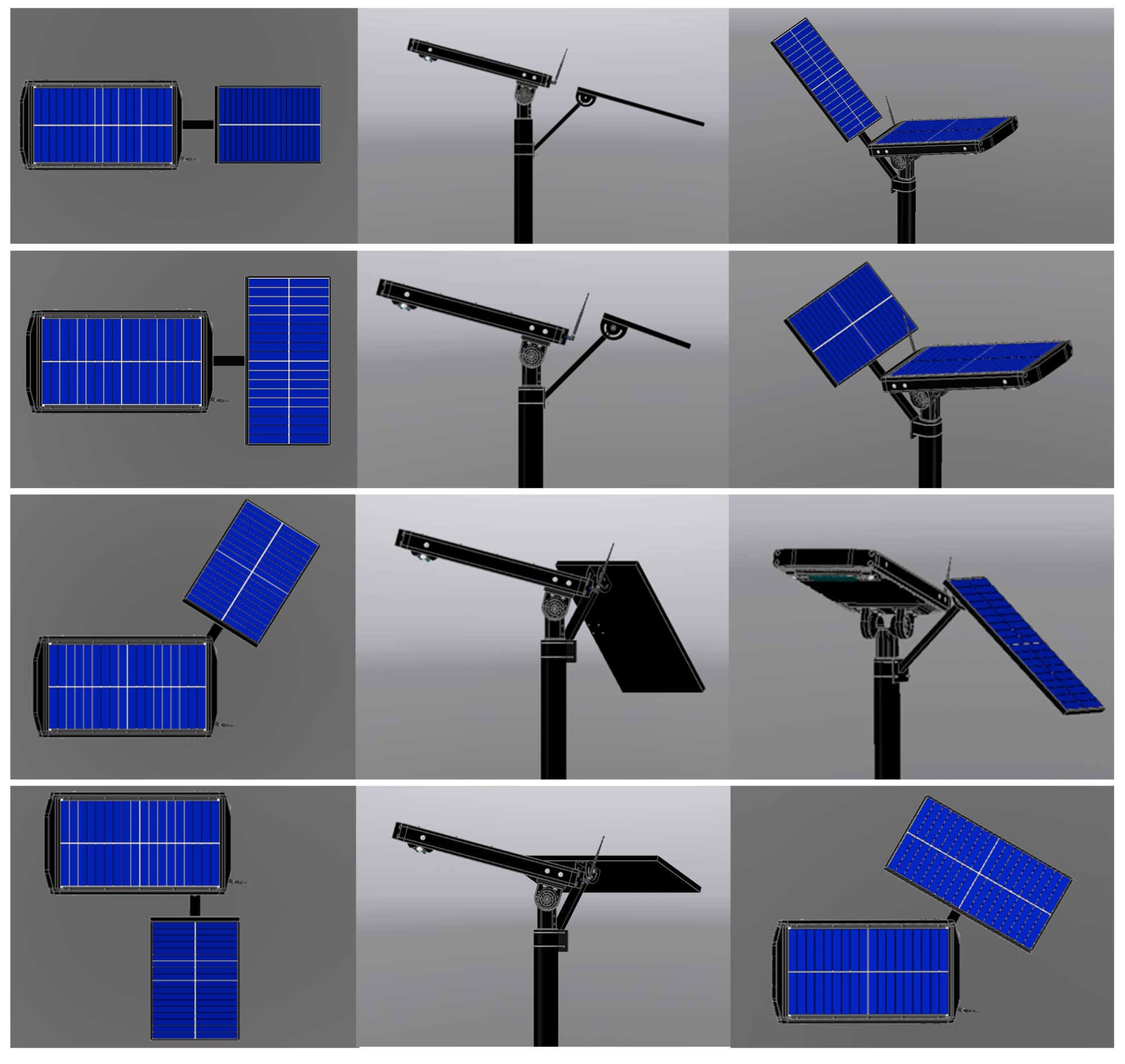 external solatr panel mounting options