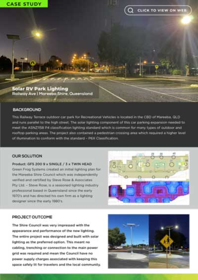Mareeba Shire RV Park Lighting Project Case Study Download