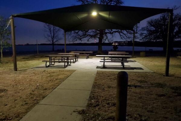 Solar Gazebo Lighting Lake Dallas
